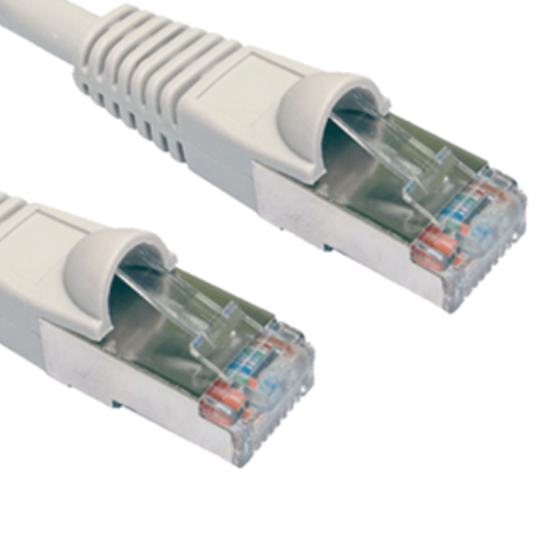CAT6 Shielded Grey 15m Ethernet Patch Cable