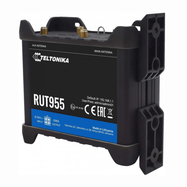 Teltonika RUT955 LTE 4G Router - Front with mount view
